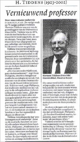 Artikel NRC Handelsblad 8 januari 2002